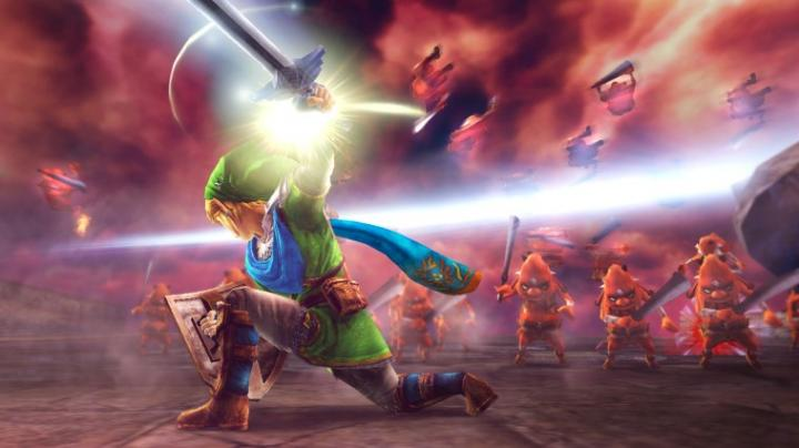 Link réalisant un coup d'estoc (Screenshot - Screenshots de la version Wii U- Hyrule Warriors)