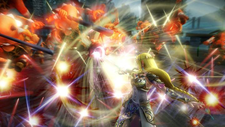 La Princesse Zelda attaquant (Screenshot - Screenshots de la version Wii U- Hyrule Warriors)