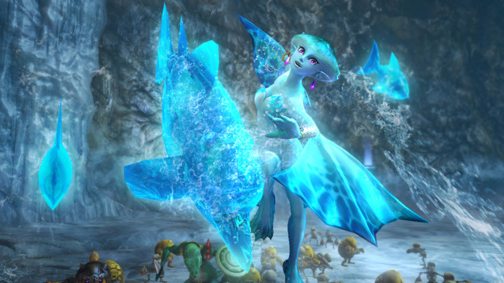 Ruto attaquant avec l'écaille zora (Screenshot - Screenshots de la version Wii U- Hyrule Warriors)