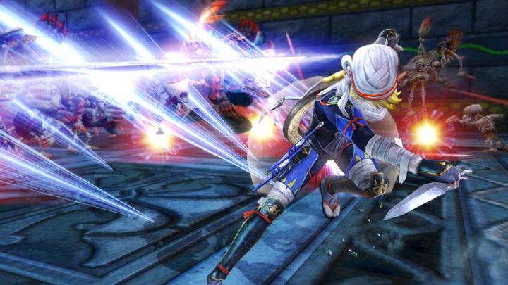 Sheik attaquant à la lyre (Screenshot - Screenshots de la version Wii U- Hyrule Warriors)