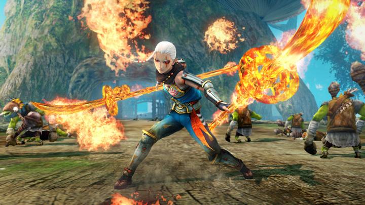 Impa attaquant au naginata (Screenshot - Screenshots de la version Wii U- Hyrule Warriors)