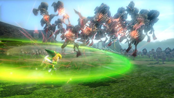 Link Cartoon attaquant à l'épée (Screenshot - Screenshots de la version Wii U- Hyrule Warriors)