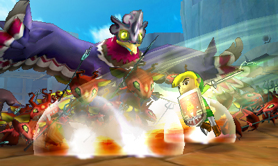 Link Cartoon attaquant à l'épée (Screenshot - Screenshots de la version 3DS- Hyrule Warriors)