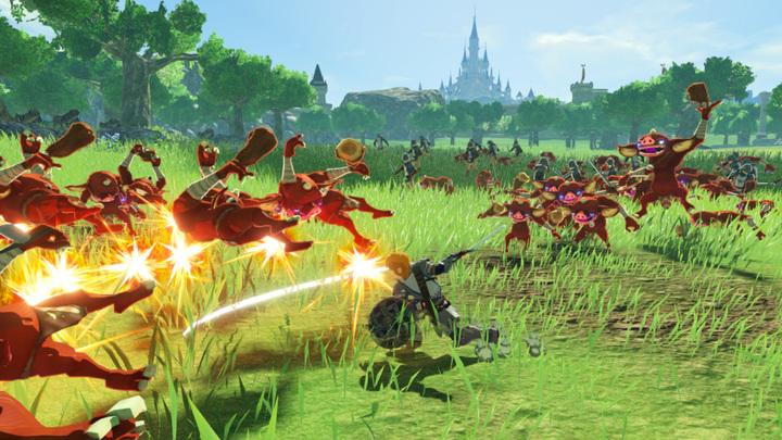 Personnage en action (Screenshot - Screenshot du Press Kit- Hyrule Warriors : L'Ère du Fléau)