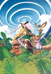 Les personnages principaux devant l'œuf du Poisson-Rêve