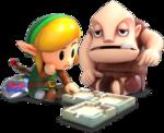 Link et Igor créant un donjon-mosaïque