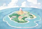 Vue du dessus de l'île de Cocolint