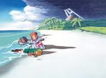 Link échoué sur la plage de Cocolint aux côtés de Marine