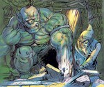Link combattant un hinox