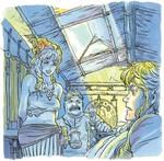 Link se réveillant dans la maison de Marine et Tarkin