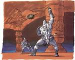 Link combattant un chevalier fléau pour des feuilles d'or