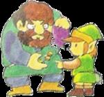 Link achetant quelque chose à un marchand