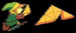 Link complétant la Triforce