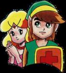 Link et Zelda (Nintendo Power)
