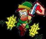Link esquivant des pièges