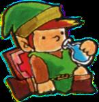 Link buvant une potion