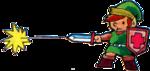 Link lançant un rayon avec son épée
