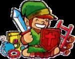 Link entouré de trésors