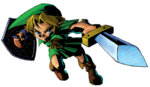 Link fendant son épée