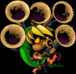 Link Mojo jouant de la trompe