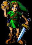 Link tenant le masque Goron