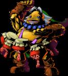 Link Goron jouant des tam-tams du Sommeil