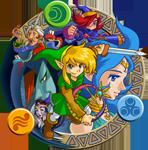 Illustration mettant en scène les protagonistes principaux