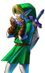 Link adulte jouant de l'Ocarina du Temps