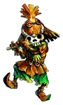 Skullkid portant un masque