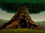 Link entrant dans le Vénérable Arbre Mojo