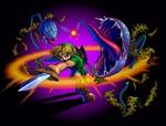 Link enfant s'attaquant à des Mojo baba