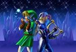 Link et Sheik jouant de la musique dans la caverne glacée
