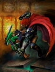 Link affrontant Ganondorf