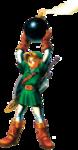 Link tenant une bombe