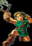 Link utilisant le lance-pierre des fées