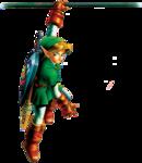 Link suspendu à un rebord