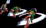 Link faisant une attaque circulaire