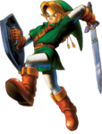 Link faisant une attaque sautée