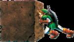 Link poussant un bloc