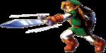 Link donnant un coup d'estoc