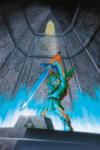Link retirant la Master Sword de son piédestal