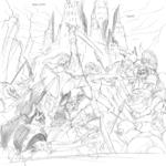 Link et Sheik affrontant une armée