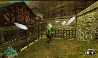 Screenshot de Ocarina of Time 3D -  Le Mont du Péril - Le Village Cocorico