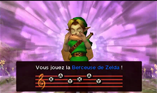 Screenshot de Ocarina of Time 3D - Le Mont du Péril - Le Cimetière du village Cocorico
