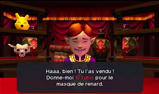 Screenshot de Ocarina of Time 3D - Le Mont du Péril - Quête des Masques