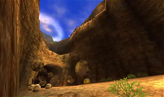 Screenshot de Ocarina of Time 3D - Le Mont du Péril