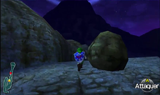 Screenshot de Ocarina of Time 3D - Le Domaine Zora - Viser le sommet