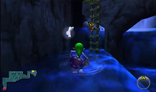 Screenshot de Ocarina of Time 3D - Le Domaine Zora - Vers le village Zora