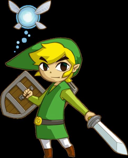 Link et Ciela (Artwork - Personnages - Phantom Hourglass)