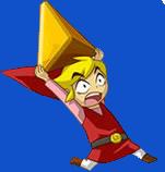 Link rouge portant une gemme (Artwork - Personnages - Phantom Hourglass)